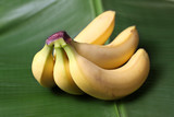 fresh bananas on a bananaleaf