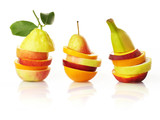 Fototapety Isolated composing of different fruit varieties