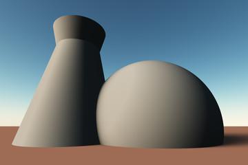 Atomkraftwerk (nah)