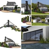 collage of detached house poster