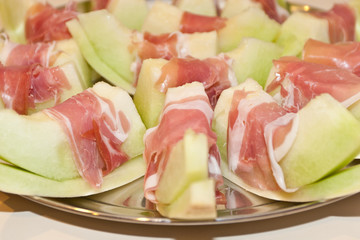 Honeydew with prosciutto
