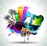 Attractive Disco Flyer Background