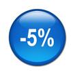 Boton brillante descuento -5%