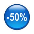 Boton brillante descuento -50%