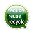 Pegatina globo reduce reuse recycle