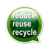 Pegatina globo reduce reuse recycle poster