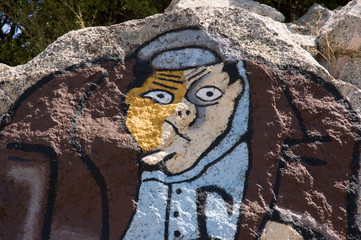"Sardinia, Italy: mural painting ""murales"" in Orgosolo"