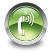 "Green Glossy Pictogram ""Telephone"""