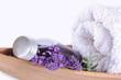 Wellness, massage with lavender
