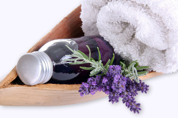 Massage, wellness with lavender