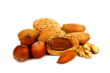 Almonds, walnuts and hazelnuts.