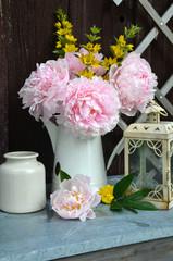 Pfingstrosen Blumenstrauß