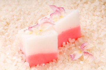 Japanese dessert, Mochi with rose