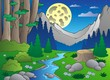 Cartoon forest landscape 3