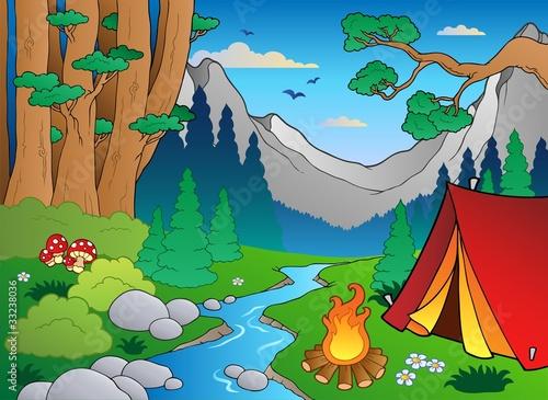 森林老虎卡通图片