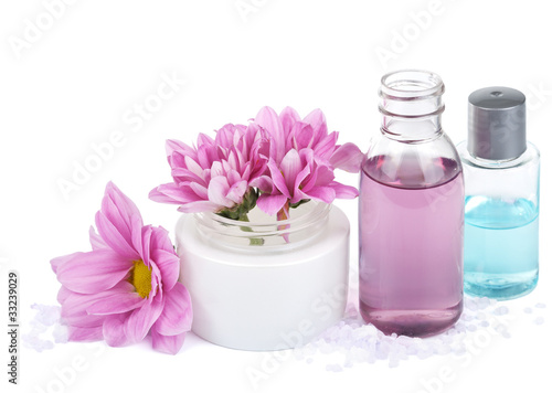 set of natural cosmetic isolated