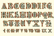 Alphabet Medieval and Roman numerals of the eleventh century - 33240011