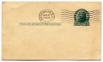 Washington, D.C. 1936 Blank Postcard
