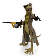 salamandre the gungster got a gun