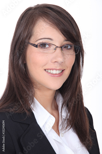 Portrait of a smiling job applicant on white background