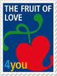 Briefmarke_Liebe_Post_Partnerschaft_Frucht