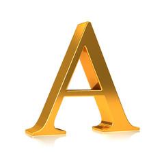 """3d Gold letter """"A"""""""