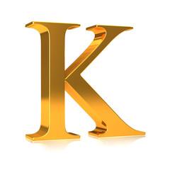 """3d Gold letter """"K"""""""