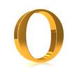 """3d Gold letter """"O"""""""