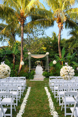 Outdoor Wedding before Guests Arrive