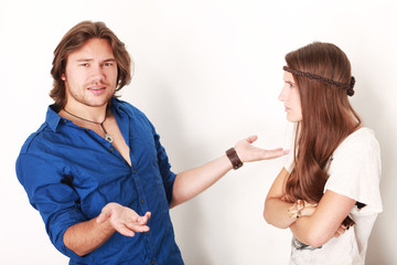 Mann und Frau beim Streiten