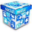 Social Media Cube: blue II