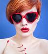Lovely girl wearing sunglasses