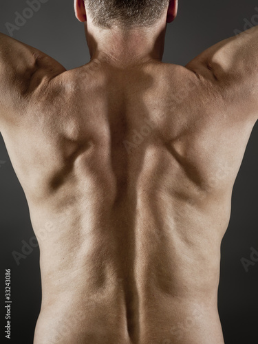 middle age man back side