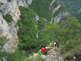 Ferrata-klettersteig. northern Italy