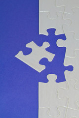 Puzzle blau