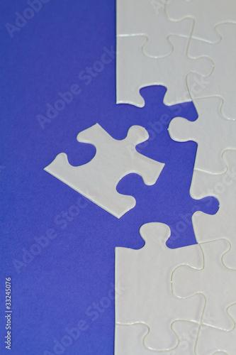 Leinwandbild Motiv Puzzle blau