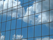 Clouds Reflection in Modern Office Block Windows