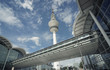 Panoramic View to Hamburg TV Tower and Expo  Building