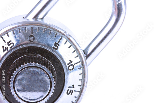 close up of a combination padlock  lock
