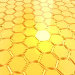 Abstract golden honeycombs