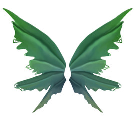 Green Leaf Summer Fae Wings