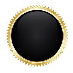 Gold Sticker Button