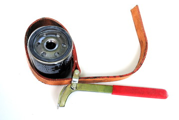 filtro dell'olio con chiave per filtro