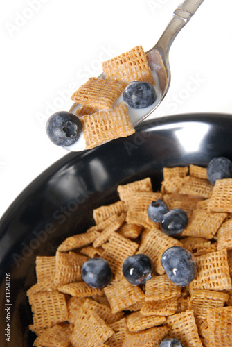 Cereal with blueberries
