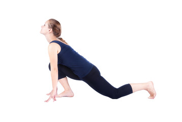 Third step of Yoga surya namaskar Ardha bhujangasana
