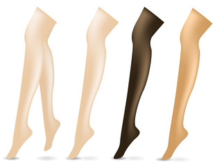 set of sexy legs isolated on white background