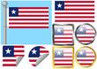 Flag Set Liberia