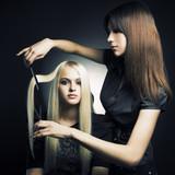 Fototapety Customer and stylist
