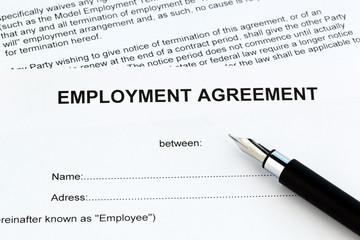 Arbeitsvertrag in englischer Sprache