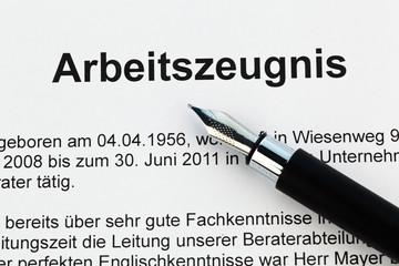 Arbeitszeugnis in deutscher Sprache